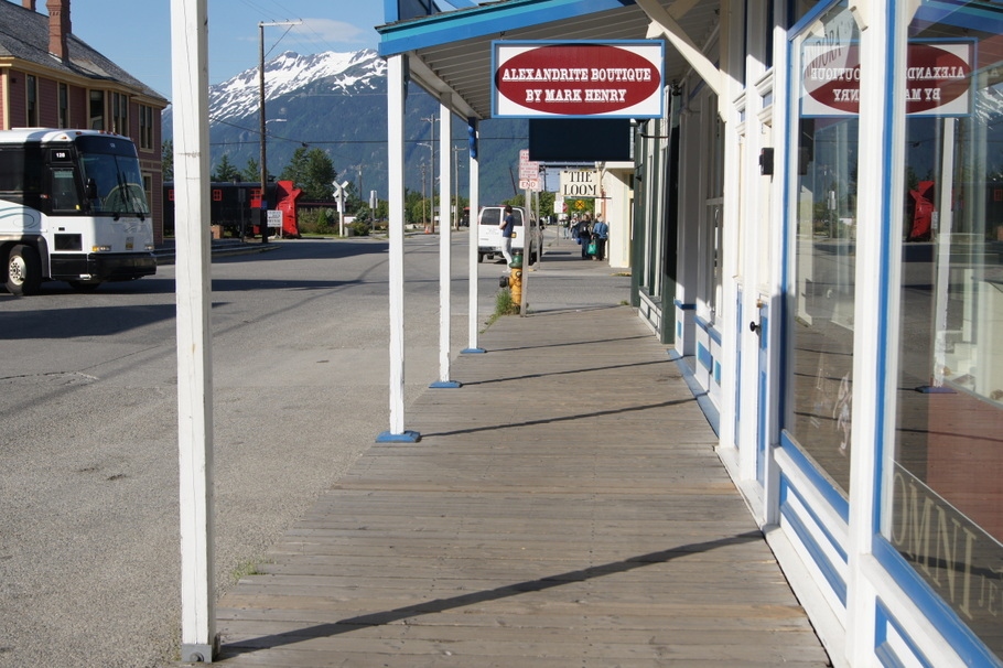 Strolling on the boardwalk is part of the fun