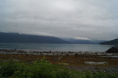 Our last view from the campground in Haines