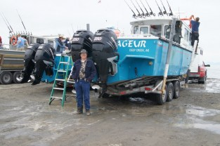 Ted waiting to board for his Halibut fishing trip