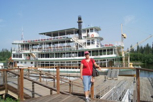 We took a tour down the Chena River on the Riverboat Discovery