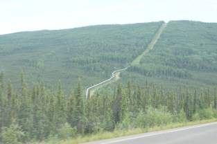 Our first view of the Alaska Pipeline from the highway