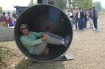 Inside the pipe