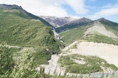 Railroad bridge over the mountain pass