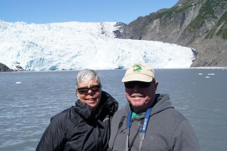 Henry and Beth at Holgate Glacier