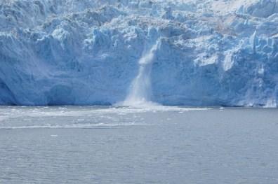 Calving on Aialik Glacier one