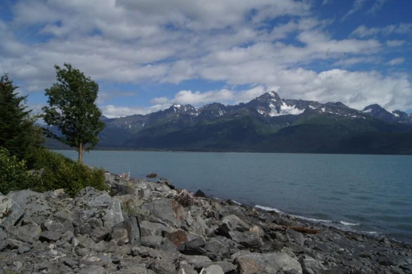 View across Resurrection Bay from Seward