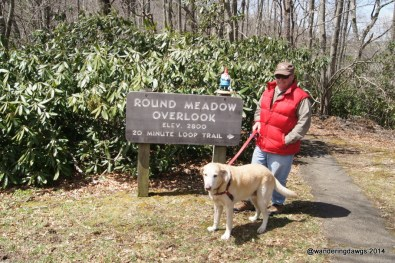 Getting ready for a hike on the Blue Ridge Parkway