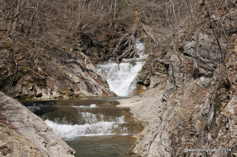 The trail ends at beautiful Lace Waterfall