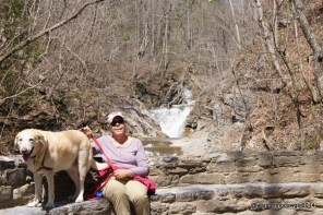 Relaxing at Lace Waterfall