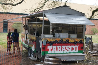 Lunch was delicious Boudin from the Tabasco food truck