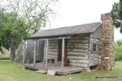 The old cabin was moved to the Llano Museum