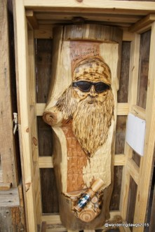 Carving of Phil Robertson, founder of Duck Commander