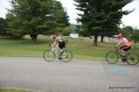 Starting the bike ride