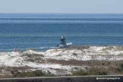 A great view of the Gulf of Mexico from the top of the fort