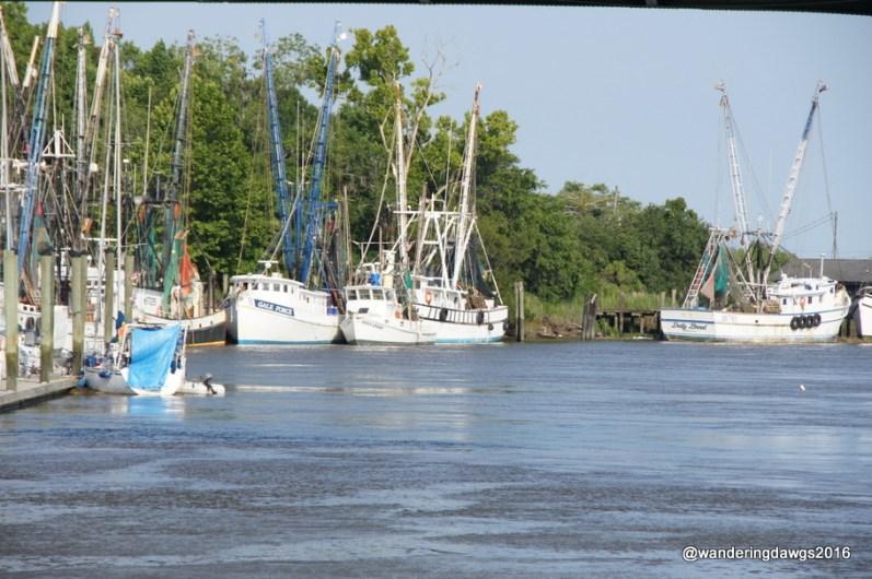 Shrimp boats in Darien, Georgia