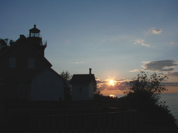 Sunset at Thirty Mile Point Lighthouse at Golden Hill State Park
