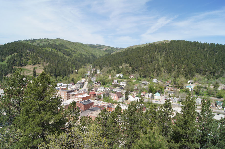 View of the town of Deadwood from the Mt. Moriah Cemetery