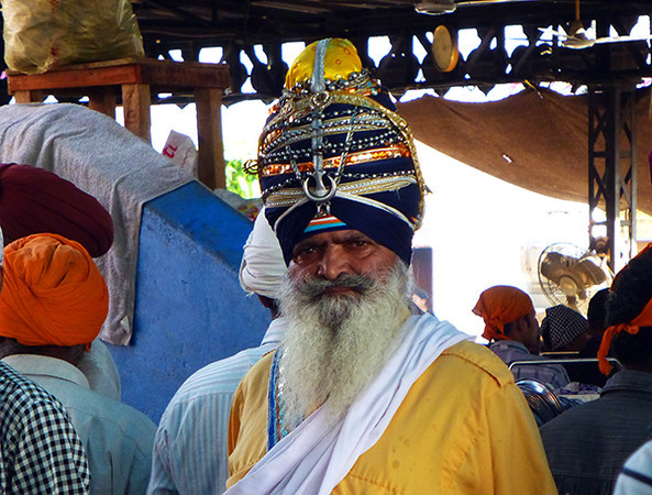 Punjabi man at Golden Temple