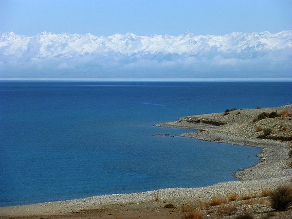 Issyk-Kul Lake with Mountains