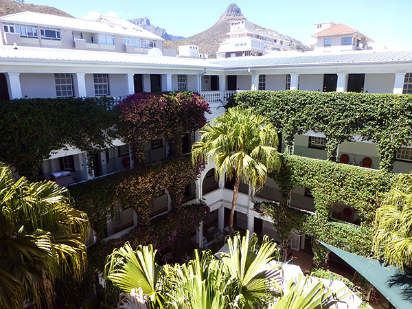Winchester Mansions Hotel courtyard (Cape Town)