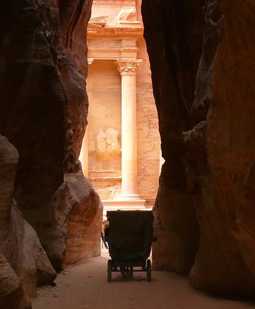 Petra, Jordan - first glimpse