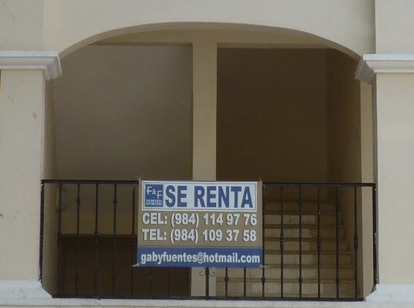 For Rent Sign - Playa del Carmen
