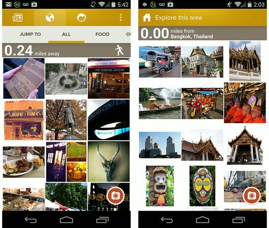 Trover screenshots app