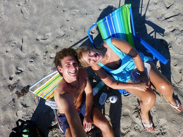 At the Beach in Jupiter, Florida