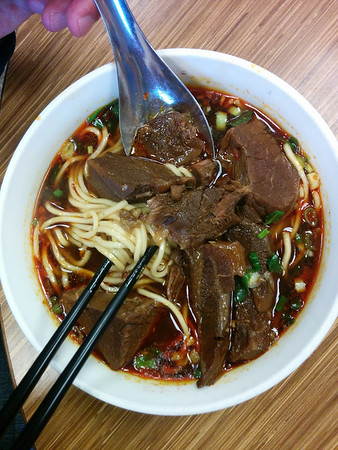 short break with Beef Noodle Soup in Taipei