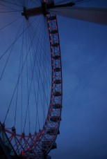 A close up of the city's iconic big wheel!