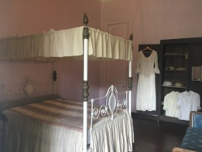 Mme's bedroom and wedding dress