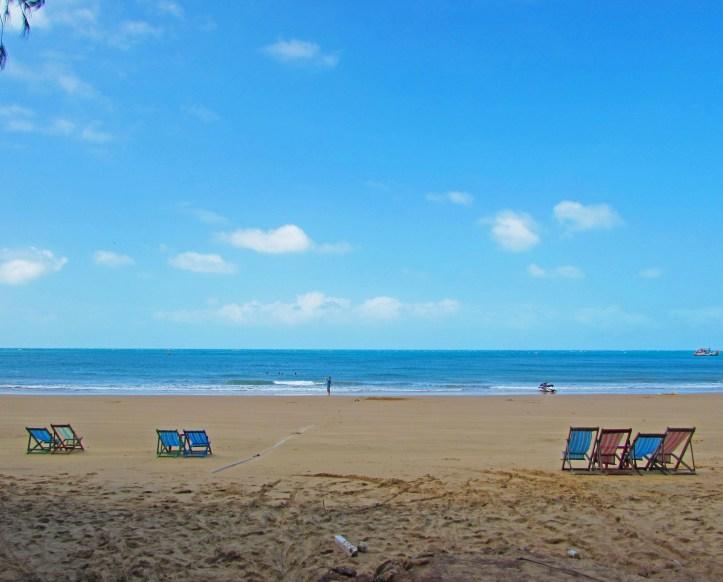 Quiet beach in vietnam
