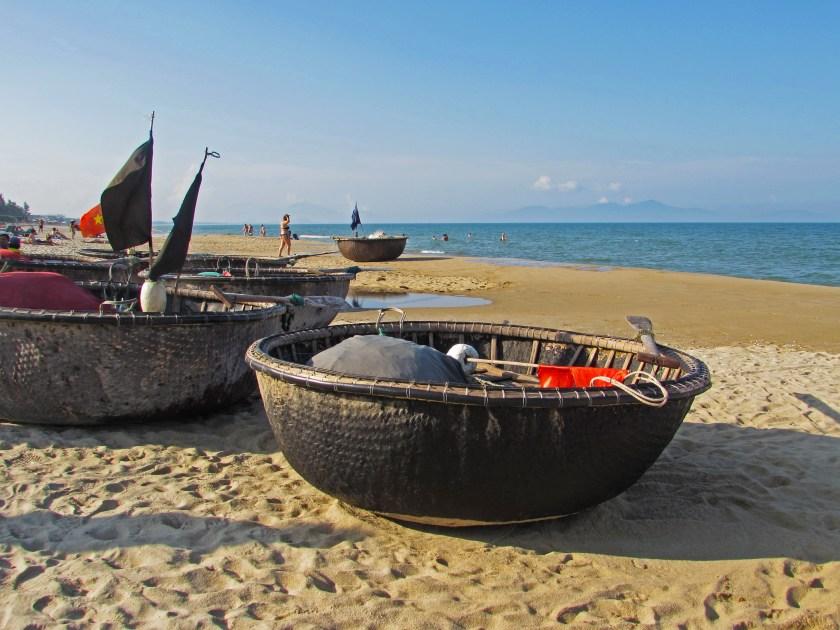 Vietnamese fishing boats Hoi An