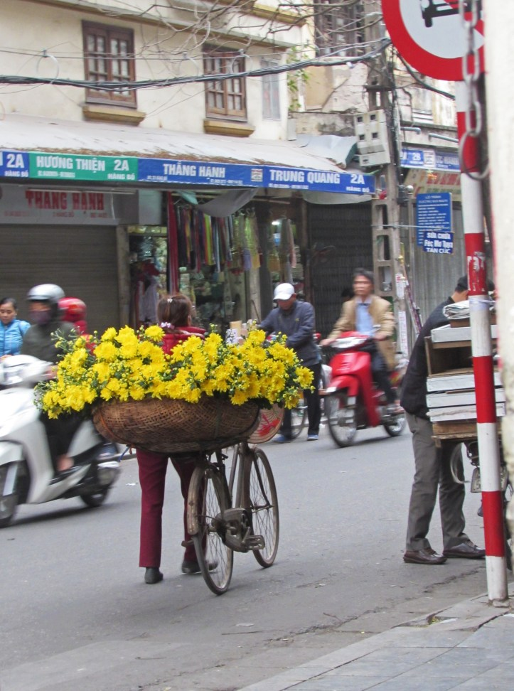 Flowers in old town hanoi