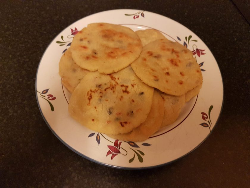 Pupusas made in the UK