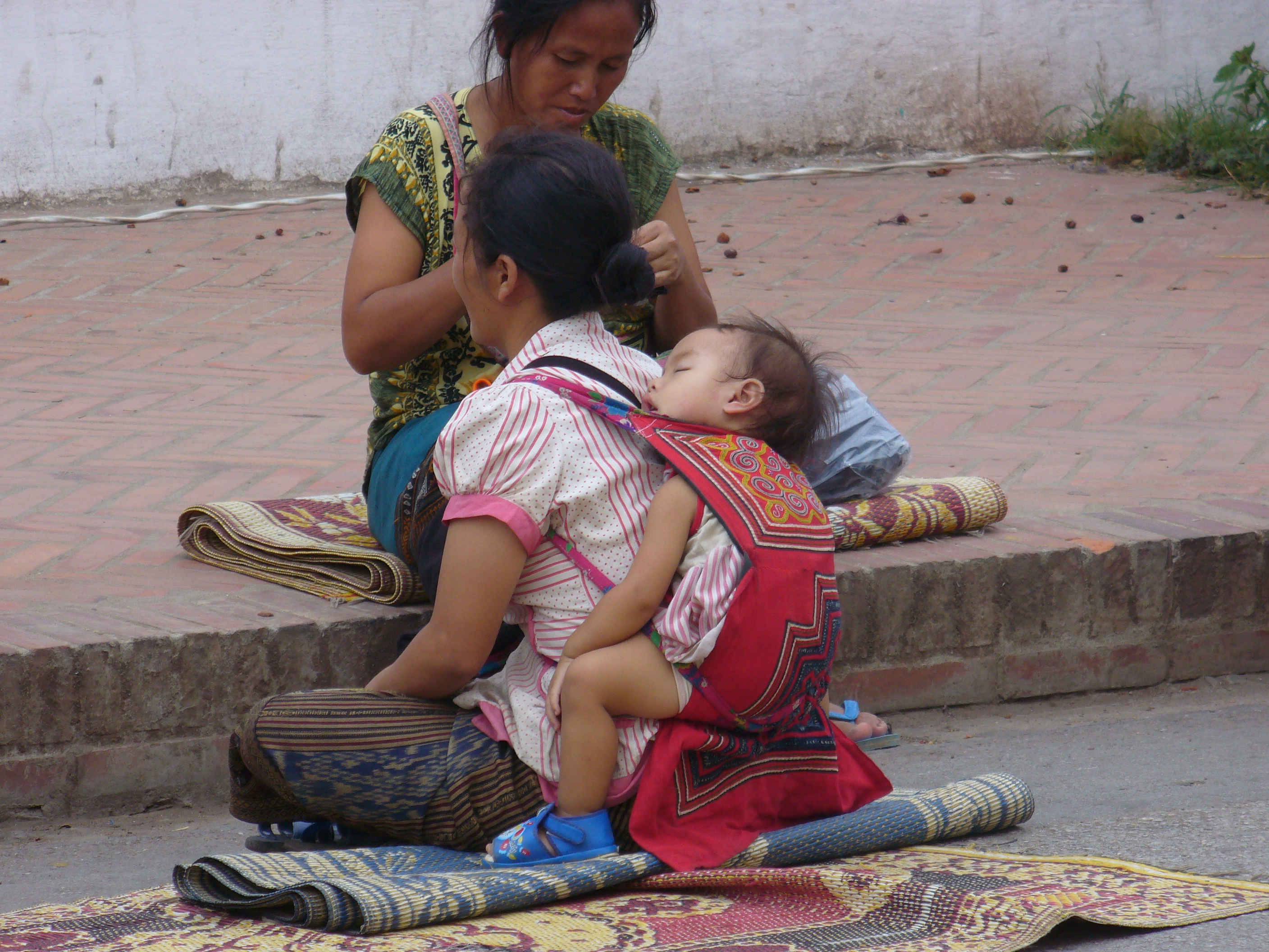 Laos woman and child