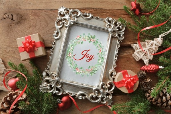 joy printable wreath