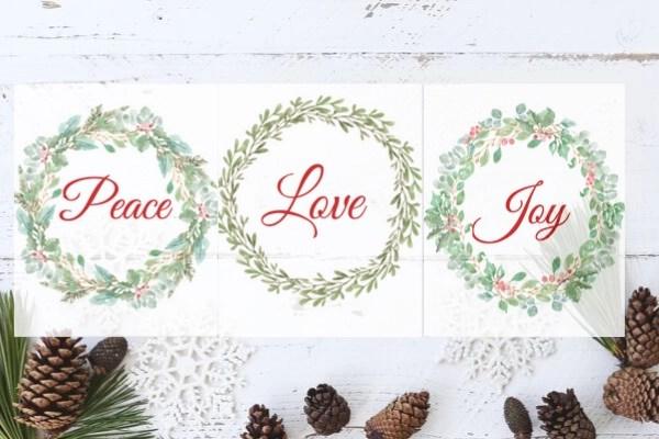 peace love joy printables