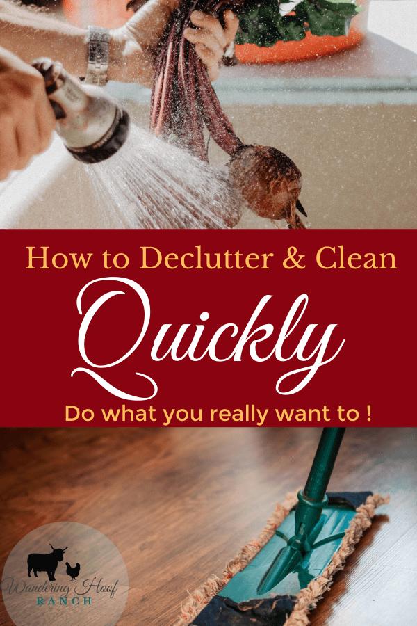 how to declutter and clean quickly