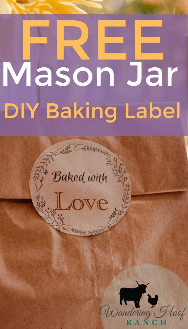 free mason jar diy baking label download