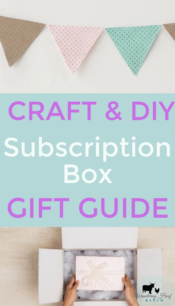 10 best subscription boxes for craft and diy people. Great gift idea.