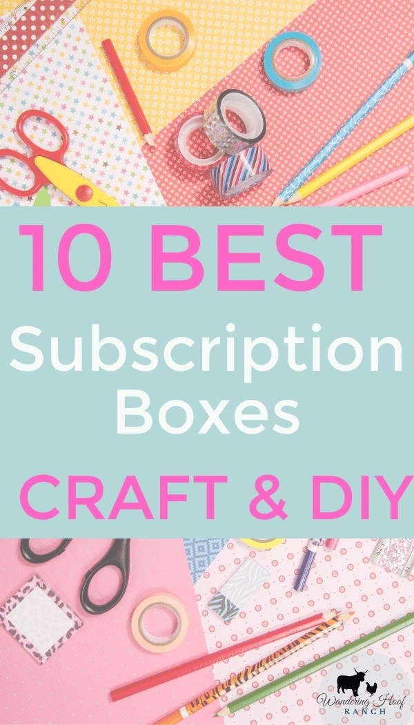 10 best subscription boxes for crafts and diy pin