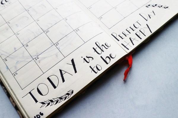 calendar journal page