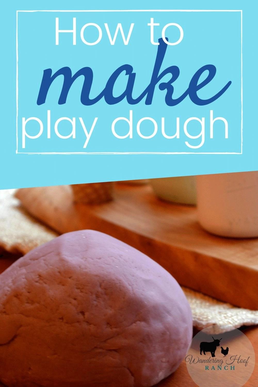 how to make play dough pin image, ball of play dough