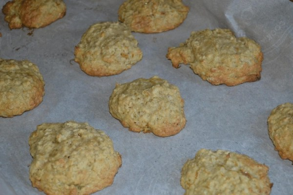 zucchini oatmeal cookies on baking tray
