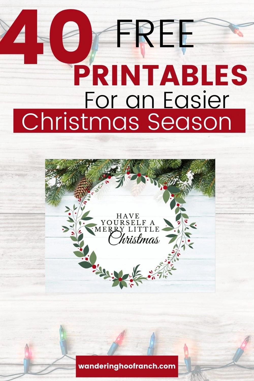 free Christmas printables pin