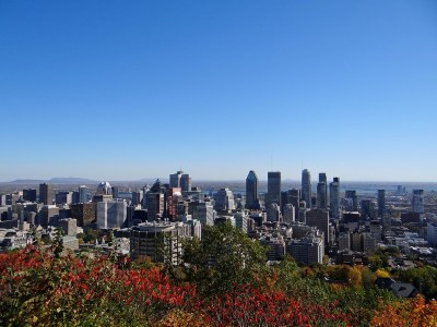View from Parc du Mont Royal, Montreal