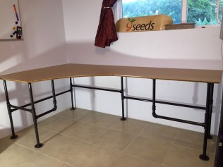 Iron Pipe Desk in the room