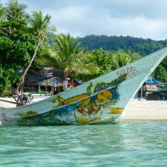 Thailand Long Tail Boat with decorative painting
