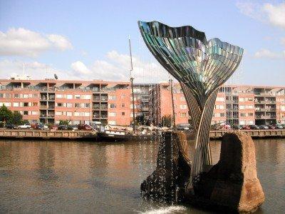 A cool bit of public art in the Aura River.